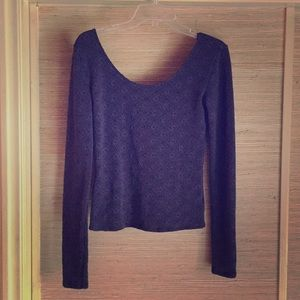 Free People, tight fit, scoop neck long sleeve